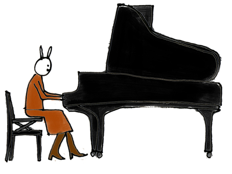 Rabbit piano
