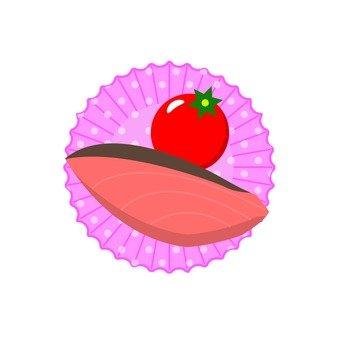 연어와 방울 토마토