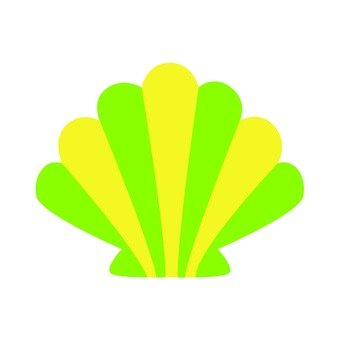 Green and yellow shell