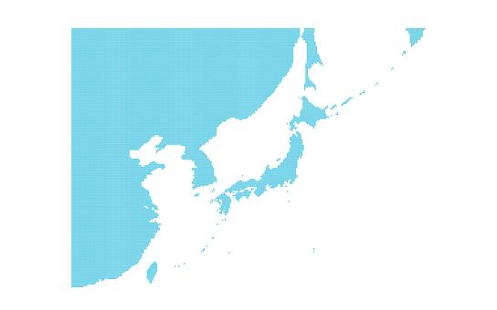 Dot map Far East Asia 1
