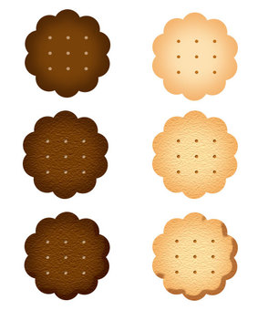 Cookie (with flower shape / hole) 3 types set