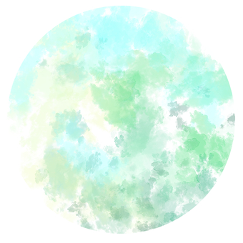 Watercolor round shape (green)