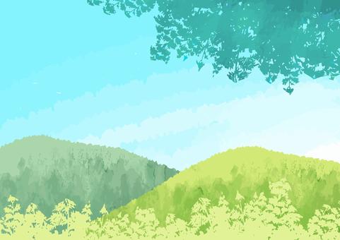 하늘과 녹색 풍경