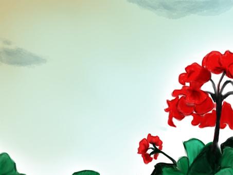黃昏和鮮花