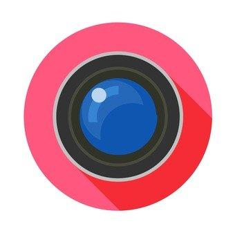 플랫 아이콘 - 카메라 렌즈