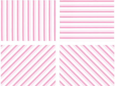 Set of pink stripes