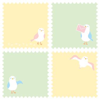 海鷗郵票框架設置2