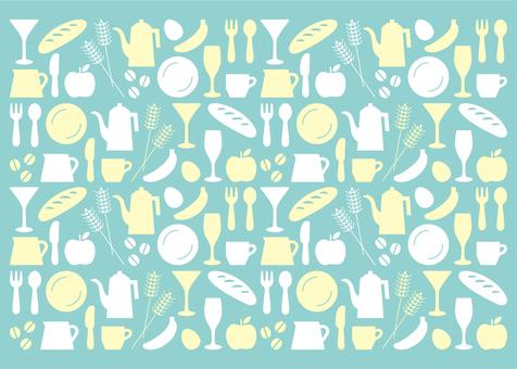 Kitchen icon pattern