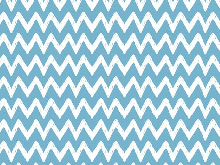 Hand-drawn zigzag pattern White line on light blue