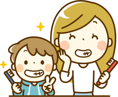 Healthy teeth parent and child