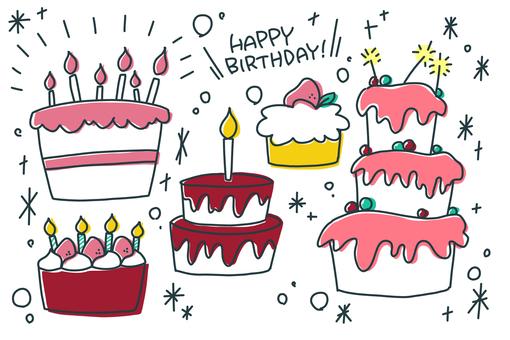 [Handwritten illustration] Birthday 3