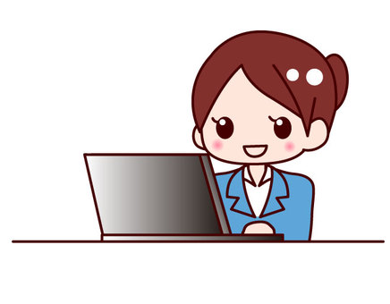 使用個人電腦工作OL式的女士們