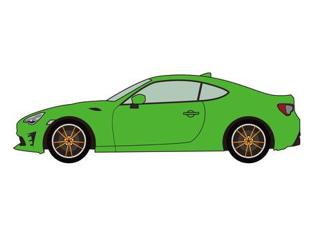 Sports car yellow green