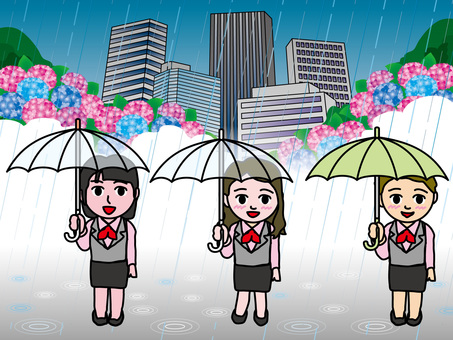 Rainy day (56) Associated person OL and hydrangea