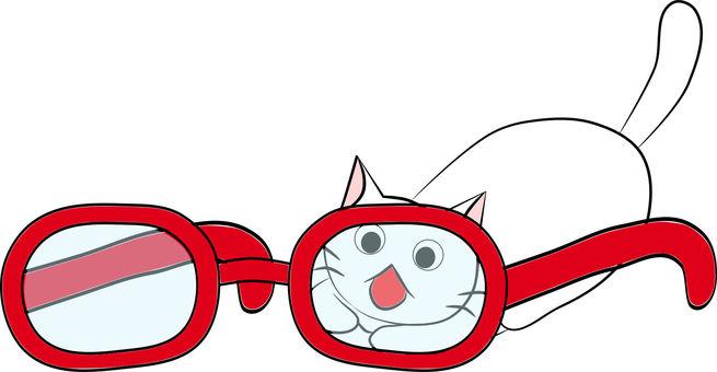 Chibi cat and glasses