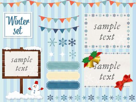 Winter material set 1