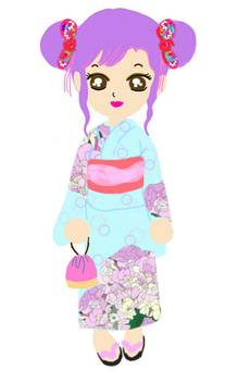 Yukata Girls Dumplings Women Festival