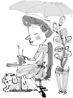 Lady's cafe time