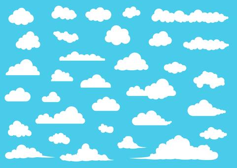 Cloud material vector set