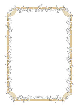 Music Line Frame Gold