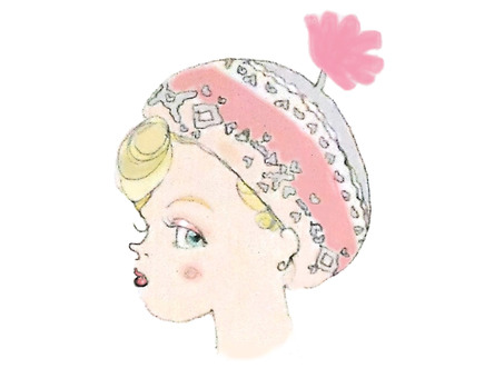 A profile covered with a hat