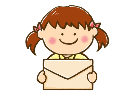 A girl with a letter