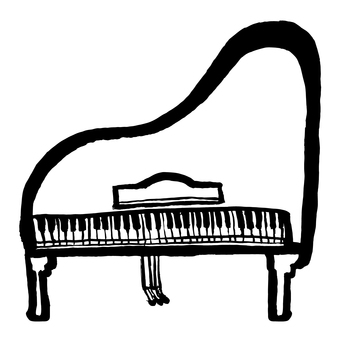 Piano A picture as drawn by a child