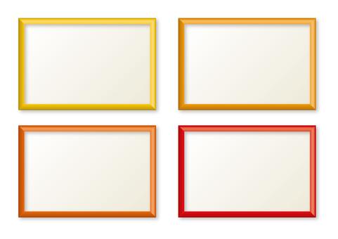 Simple frame yellow orange type