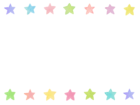 Water color star frame C1