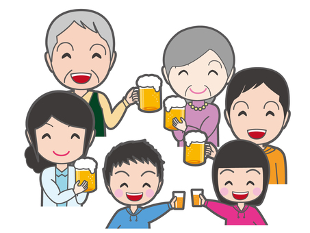 A toast with family