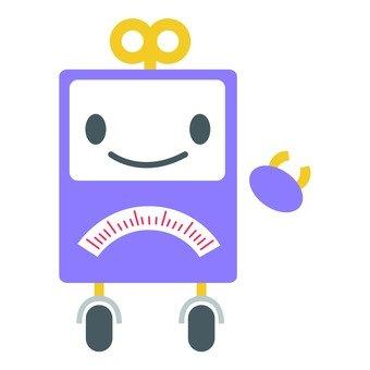 Purple box robot