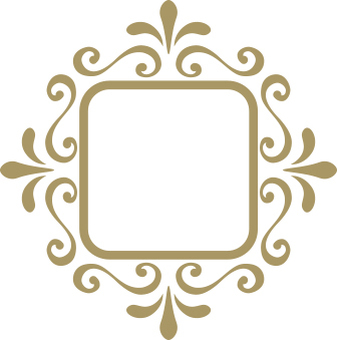 Decorative frame gold