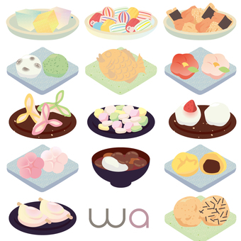 Japanese confectionery set 03