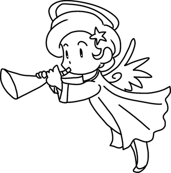 Trump Angel (right) Line drawing