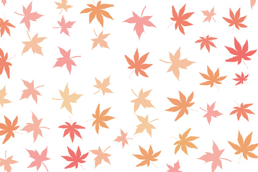 Background material of autumn leaves falling apart Harahara