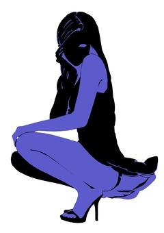 Female silhouette 3