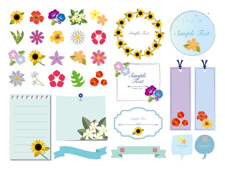 여름 꽃 소재