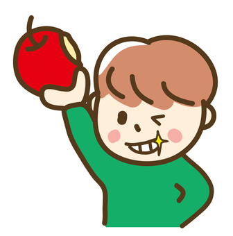 I gnawed an apple