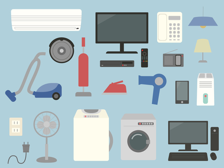 Home electronics illustration