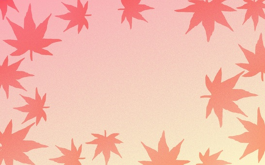 Background material · Maple (autumn leaves)