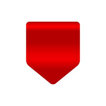 Red flag / ribbon _ 02