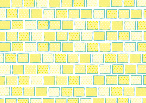 Light blue tile 【yellow】 180430