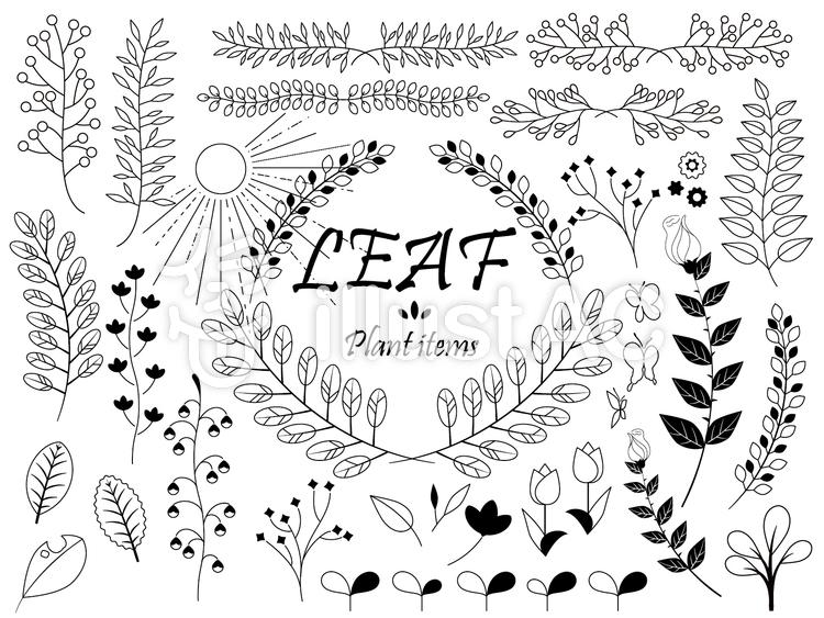 植物イラスト素材セットイラスト No 1061223無料イラストなら