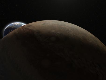 ジュピター(木星)と地球
