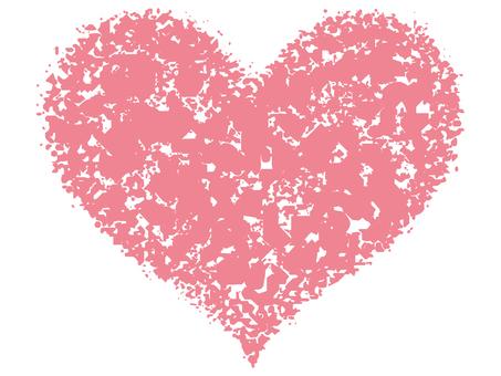 Stamp Heart _ Salmon Pink _ cs