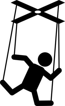 Marionette puppet pictogram