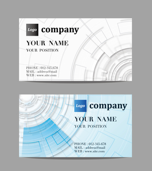 Image of business card design technology