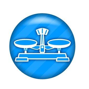 Upper dish balance symbol