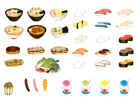 Food illustration set