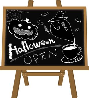 Frame blackboard (with stand) Halloween